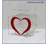Бокс C1 - 15х15х15-С (Ящик для пожертвований, голосований, анкет, копилка в форме сердца)