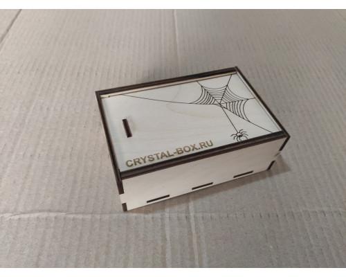 Коробка-шкатулка из фанеры с выдвижной крышкой 150*100*50мм