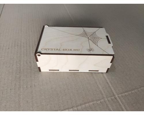 Коробка-шкатулка из фанеры с откидной крышкой 150*100*50мм