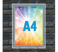 "Тонкая световая панель ""Crystal"" A4"